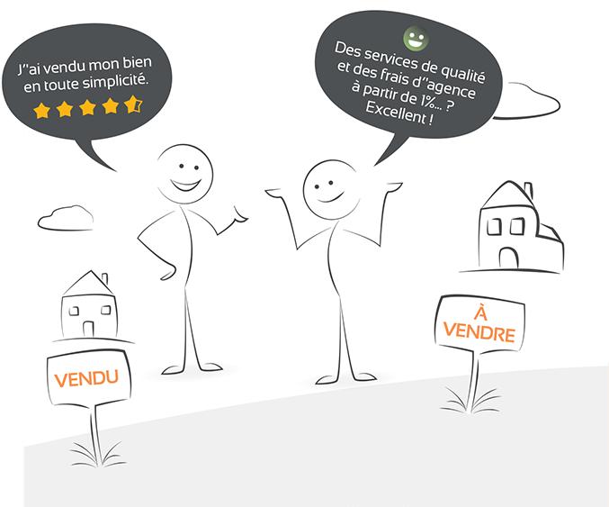 Vendre en simplicité avec services de qualités et frais agences à partir de 1%
